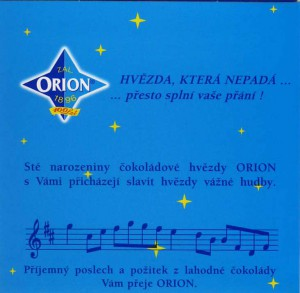 Orion CD slogan