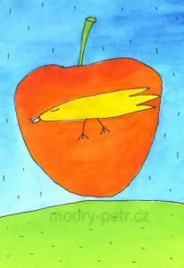 Modry Petr_ptak_a_jablko_X
